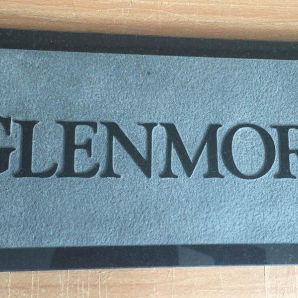 House Name Plate Black Granite Trajb Relief 400 x 200 – Stone Name ...